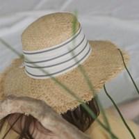 stripe straw hat