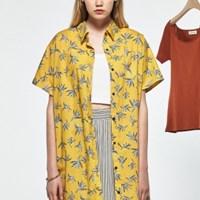 패턴 셔츠 미니원피스_(486659)