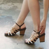 kami et muse Pattern strap modern heel sandals_KM17s302