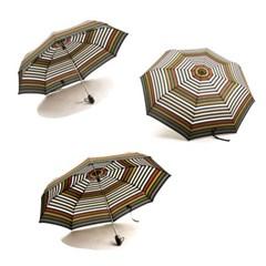 [엔비로라] 기라로쉬 3단 전자동 우산-레인보우 스트라이프 e534