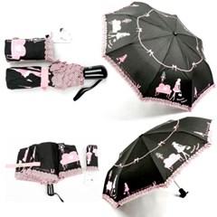 [엔비로라]아놀드 파마 3단 전자동 우산 - 프린세스 걸 e532