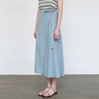 Daily basic wrap skirt