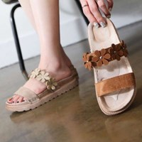 kami et muse Flower top soft tall up slippers_KM17s310