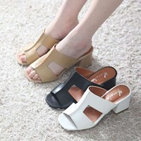 kami et muse Top & stitch heel slippers _KM17s309