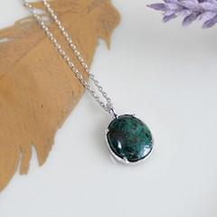 크리소콜라 오벌 목걸이 chrysocolla oval necklace