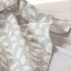 [키미티즈] 메르시 블랭킷 - 북유럽 베어 그레이 (사계절용)