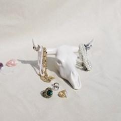 Buffalo skull jewelry stand