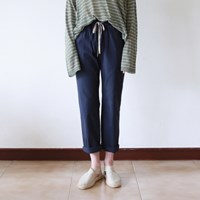 Banding slim pants