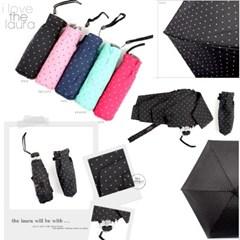 [엔비로라]휴대용 우산- 5단 양우산 겸용 /UV차단 - 잔도트 e526