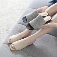 kami et muse 2 tone fine mash flat slippers_KM17s316