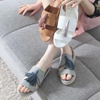 kami et muse Long tessle espadrille flat sandals_KM17s314