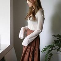 Soft tencel two way cardigan