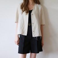 Length stripe two way blouse