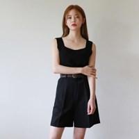 Basic square knit sleeveless