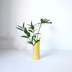 Wave Vase Citrus Yellow
