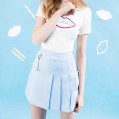 Half Pleats Ring Skirt / 씨앤립 반주름스커트
