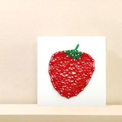 꼬마 딸기 스트링아트 만들기 패키지 DIY (EVA)