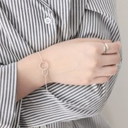 Twin circle bracelet (트윈 써클 실버 팔찌) [92.5 silver]