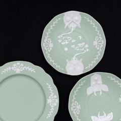 카페룸넘버1508 부엉이커피잔세트 green pastel
