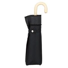[양산] Rib dot picolace mini (no.801-628)-BK(블랙) 3단양산