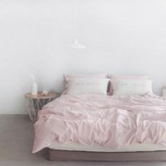 N 에스타도 천연염색 양면침구 - 베이지핑크&크림 (더블/퀸)