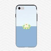 냥코케이스 슬라이더케이스 튜브수영 백곰(tubekuma)