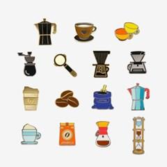 민트 커피잔 뱃지