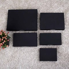 [더로라] 스카프 포장 상자-블랙싸바리 상자  직사각 box E