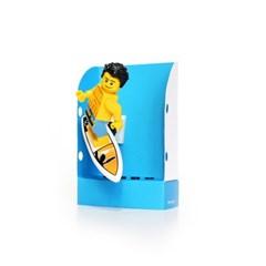 펀치 미니하우스-블루, Punchy-lego minifigure house, 펀치