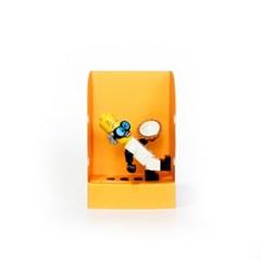 펀치 미니하우스-옐로우, Punchy-lego minifigure house, 펀치