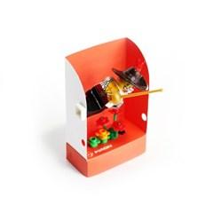펀치 미니하우스-오렌지, Punchy-lego minifigure house, 펀치