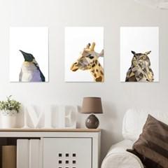 폴리곤 동물 시리즈 10종 포스터 _ 매트용지