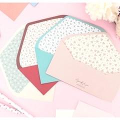 플라워 패턴 선물봉투