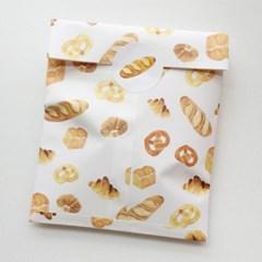 [달의공간] 빵(パン) 봉투 + 원형스티커 set