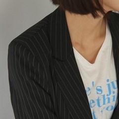stripe mannish jacket