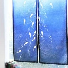 그랑블루 2종 가리개커튼  43x136 (2장)