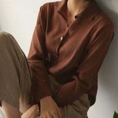 crop collar neck knit