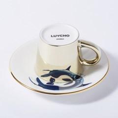 [LUYCHO] 루이초 Killer whale-Espresso (미러컵+컵받침SET) 골드
