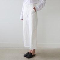 Casual cut cotton pants