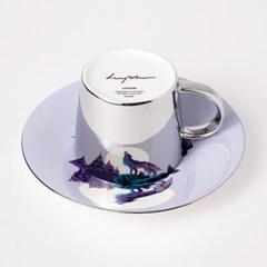 [LUYCHO] 루이초 Gray Wolf-Short (원형미러컵+컵받침SET)
