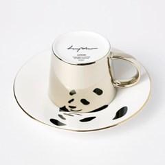 [LUYCHO] 루이초 Giant Panda-Short (원형미러컵+컵받침SET)