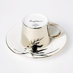 [LUYCHO] 루이초 Sika Deer-Short (원형미러컵+컵받침SET)