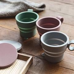 휴대용 접이식 실리콘 컵-친환경