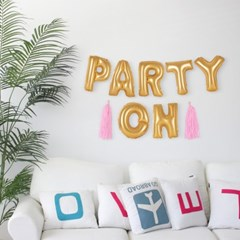 Party on 벌룬배너 Set