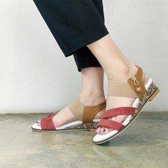 kami et muse Elastic band top wedge sandals _KM17s376