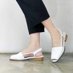 kami et muse Slim side strap toe open flat sandals_KM17s375