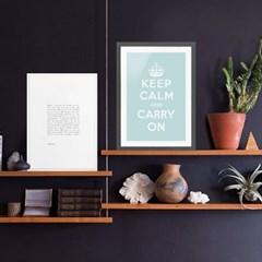 Keep Calm 킵캄 민트 포스터 - A1 A2 A3 A4