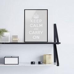 Keep Calm 킵캄 그레이 포스터 - A1 A2 A3 A4