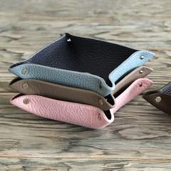 가죽 트레이M,15x15cm(핑크+블랙)P90623