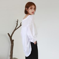 Easy cotton wide pants